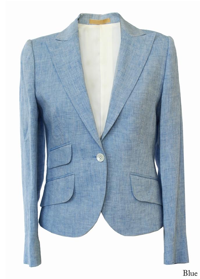 Bladen Cantley Ladies Light Blue Linen Jacket